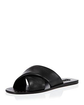 AQUA - Women's Silky Criss Cross Slide Sandals - 100% Exclusive
