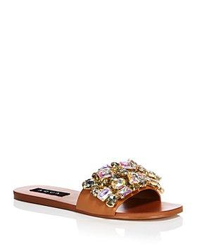 AQUA - Women's Paris Embellished Slide Sandals - 100% Exclusive
