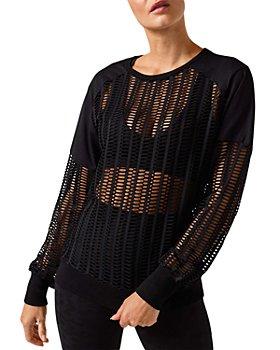 Blanc Noir - Linear Mesh Sweatshirt