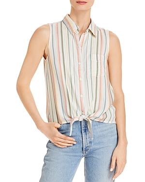 Janera Striped Sleeveless Shirt