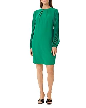 Greta Pleated Shift Dress