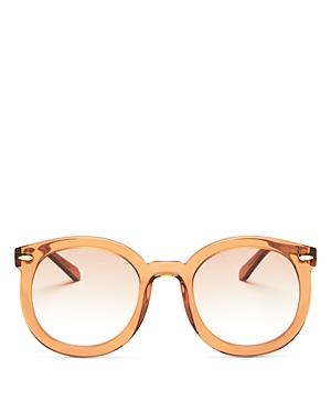 Karen Walker Women's Round Sunglasses, 53mm