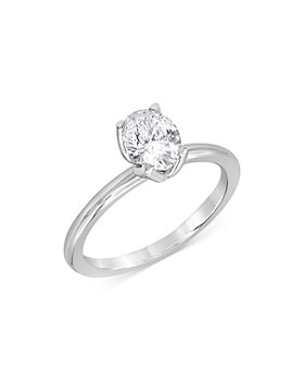 Bloomingdale's - Certified Oval Diamond StarBloom™ Engagement Ring in 14K White Gold, 0.75 ct. t.w. - 100% Exclusive