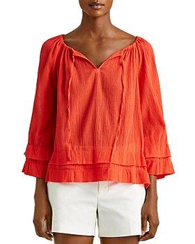 Ralph Lauren - Ruffled Cotton Gauze Top