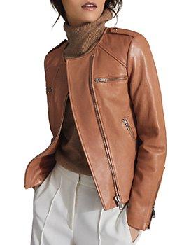 REISS - Ossie Leather Biker Jacket
