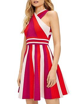Ted Baker - Metropolis Striped Knit Skater Dress