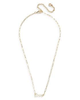 "BAUBLEBAR - Hera Rectangular Link Love Nameplate Necklace, 16"""