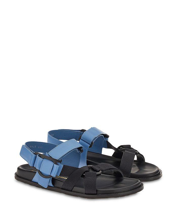 Salvatore Ferragamo - Women's Aja Bicolor Strappy Slingback Flat Sandals