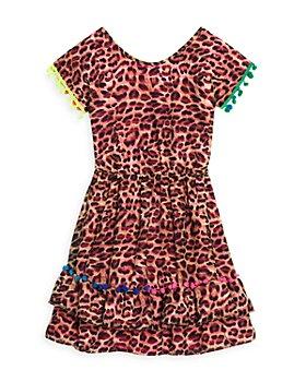 Peixoto - Girls' Mona Pompom Animal Print Dress - Big Kid
