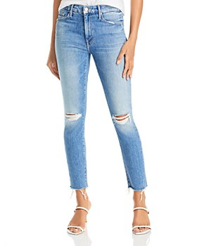 MOTHER - The Looker Ankle Fray Skinny Jeans in Not Cut & Pasted