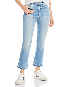 MOTHER - The Hustler Frayed Flare Leg Ankle Jeans in On My Feet