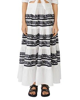 Maje - Ibiza Collection Jolipa Embroidered Tiered Maxi Skirt