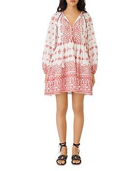 Maje - Ibiza Collection Rolipa Embroidered Babydoll Dress