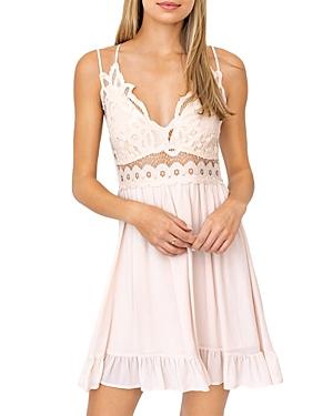 Sleeveless Applique Tiered Mini Dress (29% off)