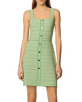Sandro - Lea Organic Cotton Blend Tweed Dress