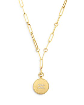 "Roberto Coin - 18K Yellow Gold  Zodiac Medallion Diamond Pendant Necklace, 19"""