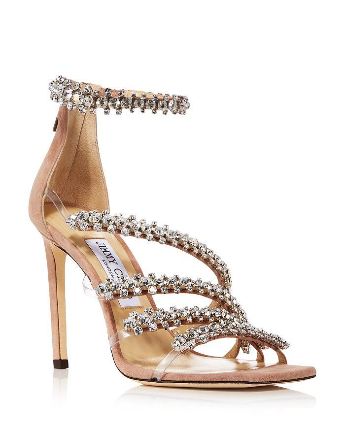Jimmy Choo - Women's Josefine 100 Crystal High Heel Sandals