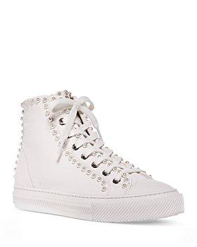 Stuart Weitzman - Women's Ollie Embellished High Top Sneakers