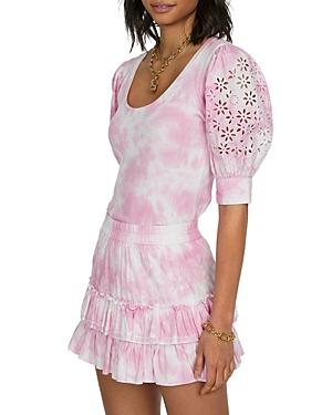 Audrina Tie Dyed Mini Skirt