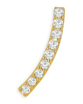 Moon & Meadow - Diamond Ear Climber in 14K Yellow Gold - 100% Exclusive