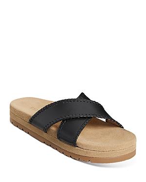 Women's Lexi Crossover Leather Platform Sandals