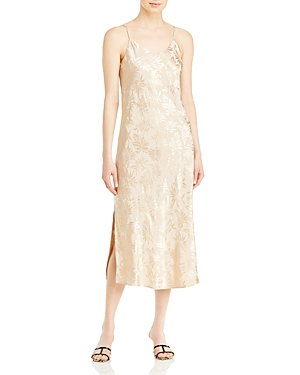 Remi Floral Jacquard Slip Dress