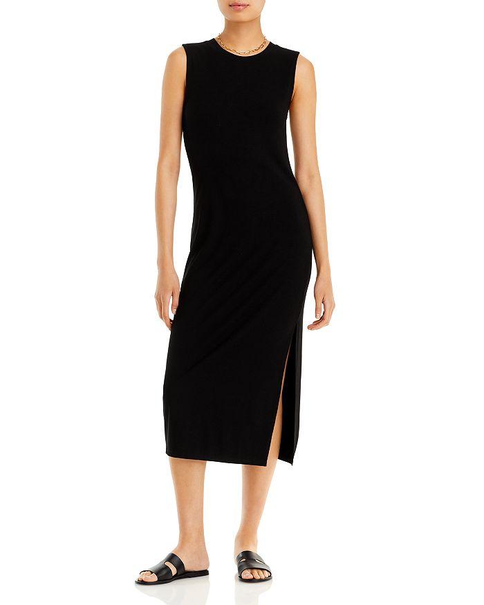AQUA - Rib Knit Muscle Tee Midi Dress - 100% Exclusive