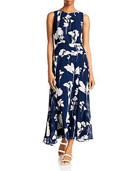 KARL LAGERFELD PARIS - Floral Print Maxi Dress