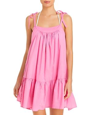 Aqua Swim Cotton Mini Dress Swim Cover-Up