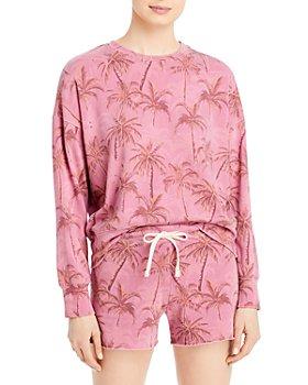 Sundry - Palm Print Sweatshirt