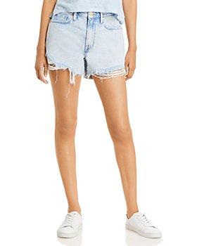 FRAME - Le Brigette Jeans Shorts in Whisper Destruct