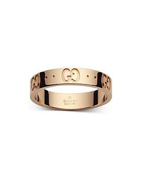 Gucci - 18K Rose Gold Icon Logo Band