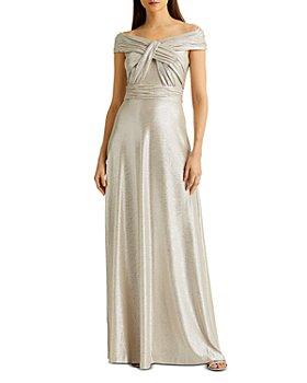 Ralph Lauren - Metallic Off-the-Shoulder Gown