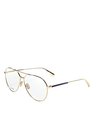 Dior Women's Brow Bar Aviator Clear Glasses, 58mm