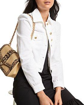 MICHAEL Michael Kors - Puff Sleeve Cropped Denim Jacket
