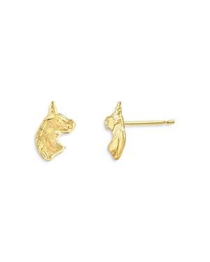 Zoe Lev 14K Yellow Gold Unicorn Stud Earrings