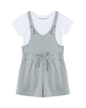 Habitual Kids - Girls' Tee & Shortalls Set - Little Kid