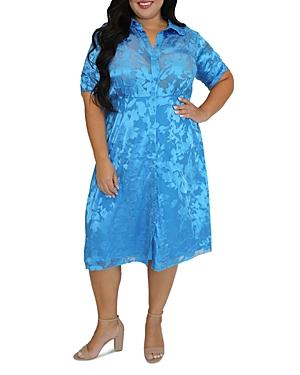 Burnout Shirt Dress