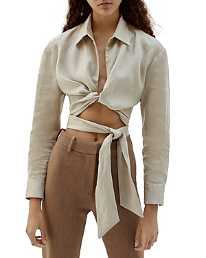 Musier Cropped Wrap Shirt