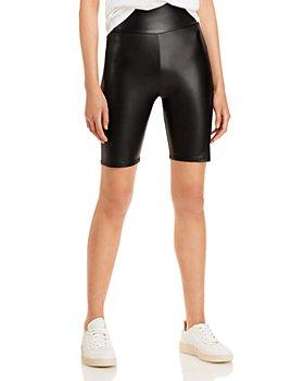 AQUA - Faux Leather Biker Shorts - 100% Exclusive
