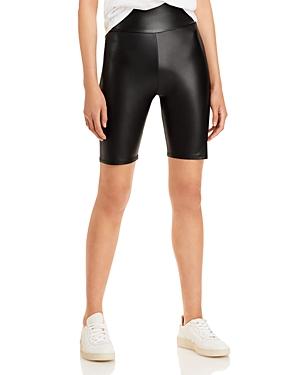 Aqua Faux Leather Biker Shorts - 100% Exclusive