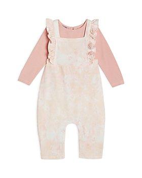 Pippa & Julie - Girls' Long Sleeve Tee & Tie Dyed Jumpsuit Set - Baby