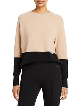 C by Bloomingdale's - Color Blocked Cashmere Sweater - 100% Exclusive