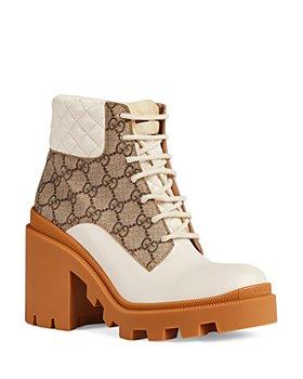 Gucci - Women's GG Platform High Block Heel Ankle Boots
