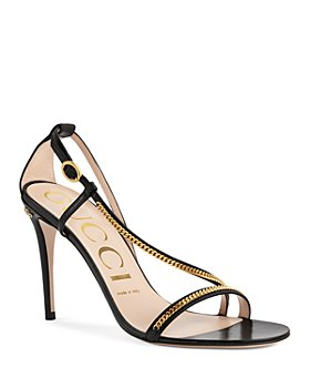 Gucci - Women's Double G Chain High Heel Sandals