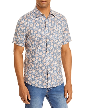 Breeze Floral Print Relaxed Fit Button Down Shirt