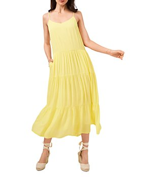 1.STATE - V Neck Tiered Maxi Dress