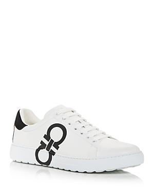 Salvatore Ferragamo Men's Number Low Top Sneakers