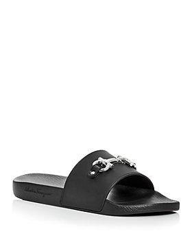 Salvatore Ferragamo - Men's Groove Slide Sandals