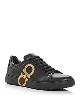 Salvatore Ferragamo - Men's Number Low Top Sneakers